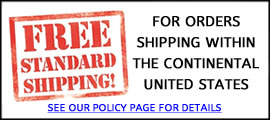Free Standard US Shipping